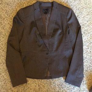 Worthington Brown Tweed Notched Collar Blazer